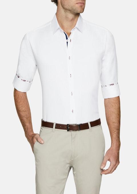 White Santiago Textured Shirt