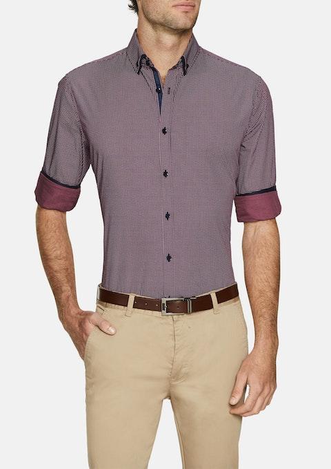 Burgundy Diego Print Shirt