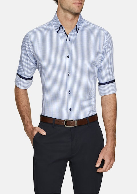 Blue Axel Check Shirt