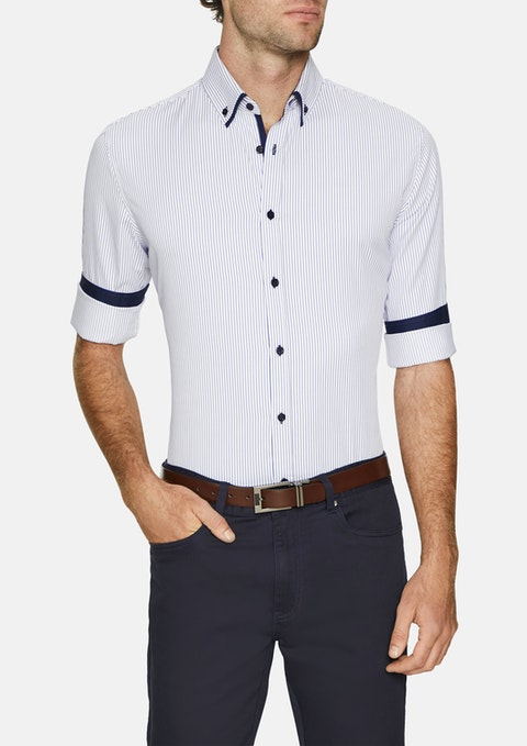 Blue Miles Slim Stripe Shirt