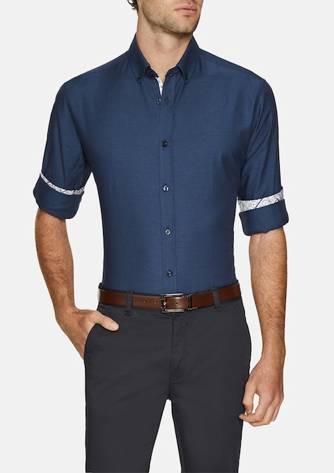 Marine Liam Textured Shirt