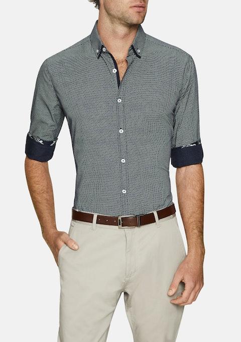 Navy Hugo Print Shirt