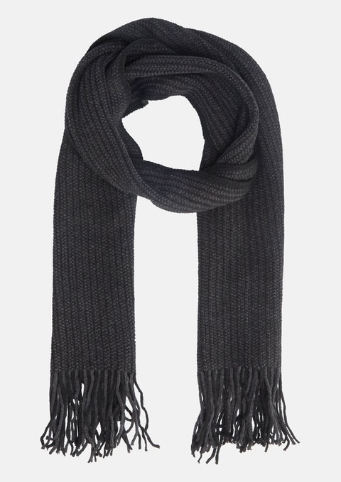 Charcoal Budapest Textured Scarf