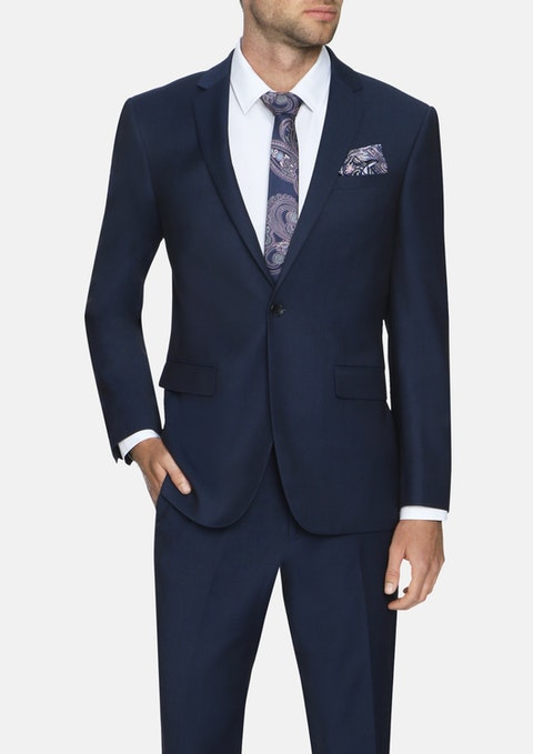 Navy Mandeville Stretch 1 Button Suit