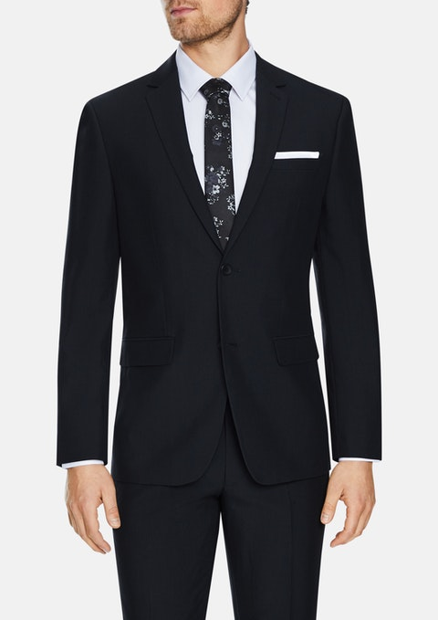 Charcoal Reed Stretch 2 Button Suit