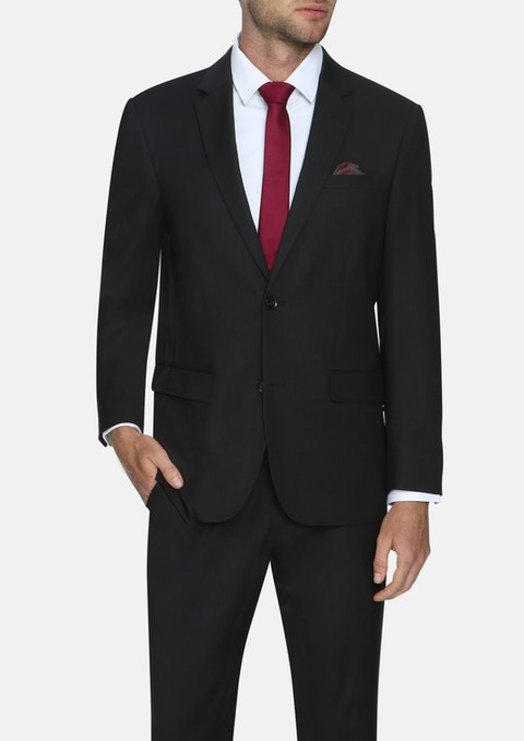 Black Waterford Stretch 2 Button Suit