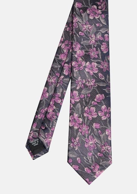 Navy Specter Floral Tie