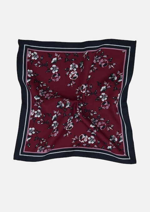 Burgundy Austin Pocket Square