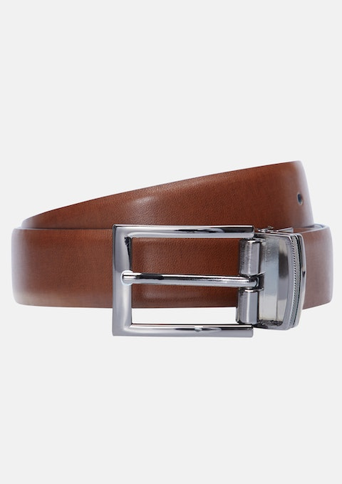 Brown/black Monk Reversible Prong Belt
