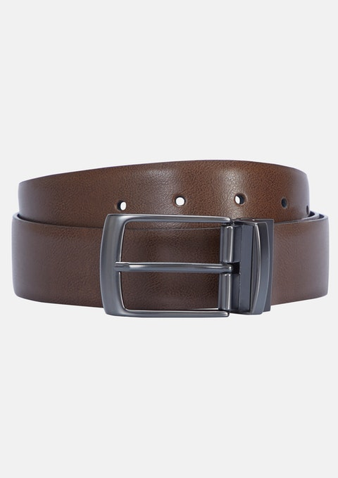 Tan/black Harry Reversible Prong Belt