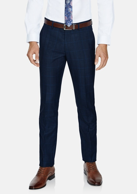 Blue Hemsworth Slim Check Pant