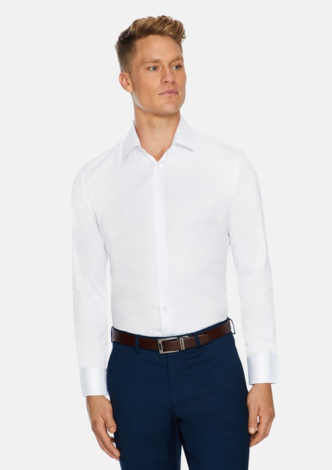 White Toby Slim Stretch Dress Shirt
