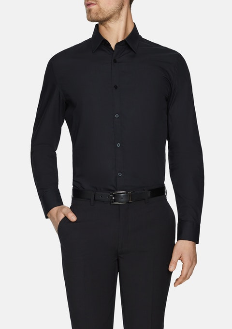 Black Alby Dress Shirt