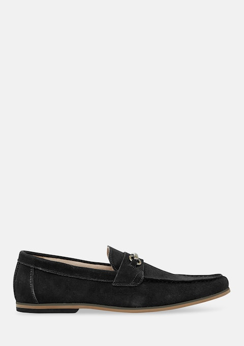 Black Taylor Suede Loafer