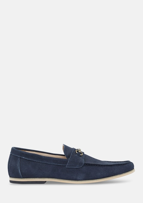 Navy Taylor Suede Loafer
