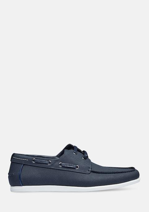 Navy Lucas Boat Shoe