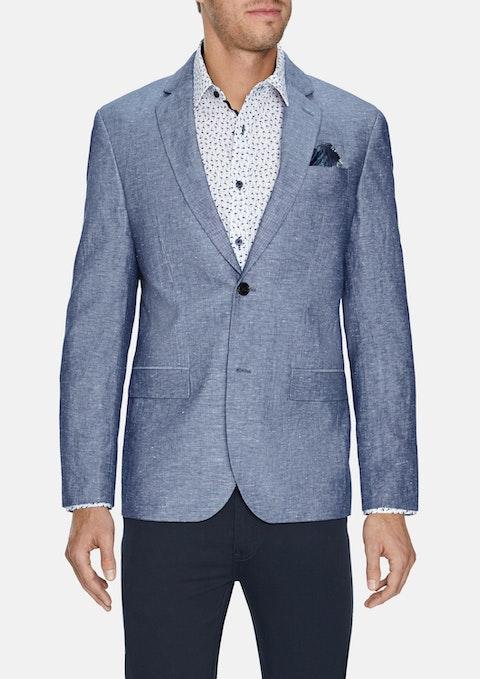 Blue Ventura Linen Blend Blazer