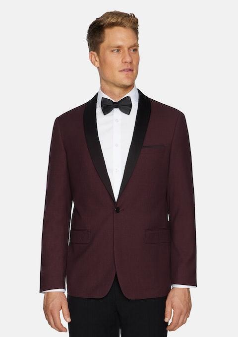 Burgundy Roxbury Shawl Tuxedo Jacket