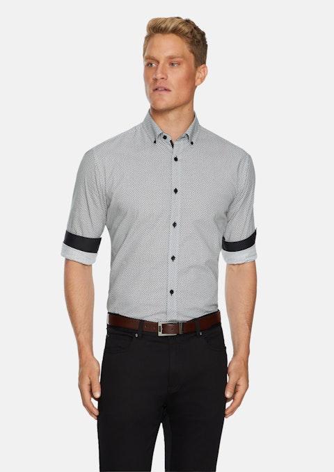 Black Crown Slim Print Shirt
