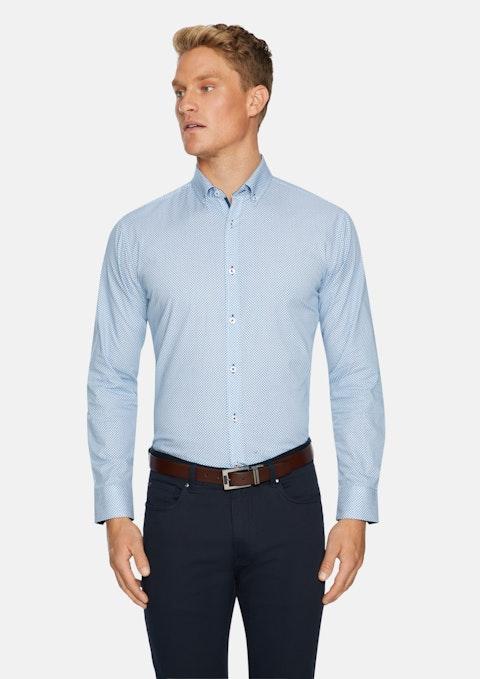 Blue Crown Slim Print Shirt