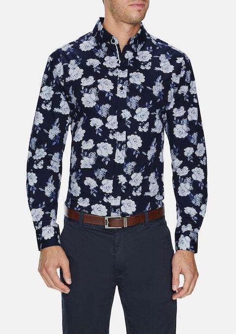 Navy Ridge Floral Stretch Shirt