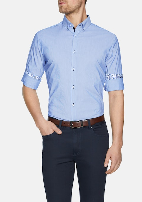 Blue Ahern Stretch Stripe Shirt