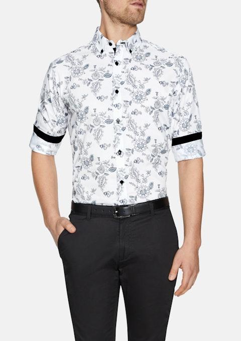 White Flinders Floral Print Shirt