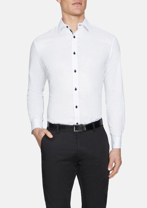 White Gunner Slim Textured Shirt