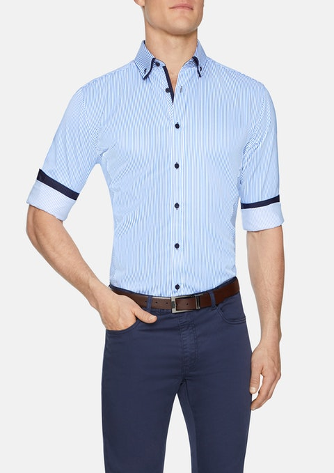 Blue Bromley Stripe Shirt
