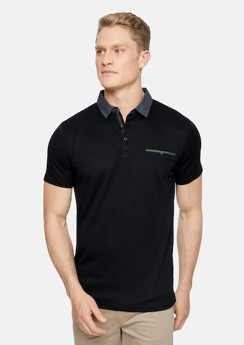 Black Capri Luxe Touch Modal Polo