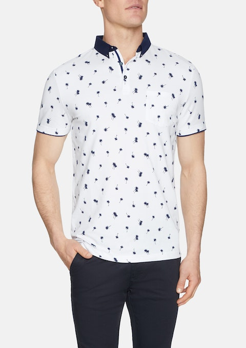 White Naples Palm Polo