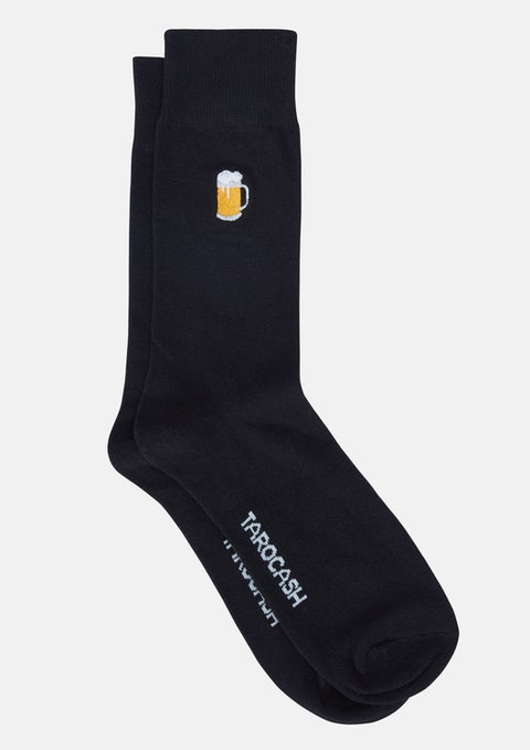 Black Beer Jug Sock