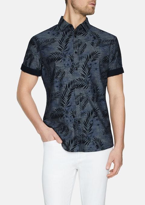 Indigo Canyon Print Shirt