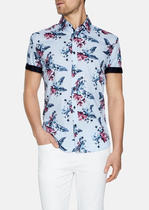 Sky Dallas Floral Print Shirt