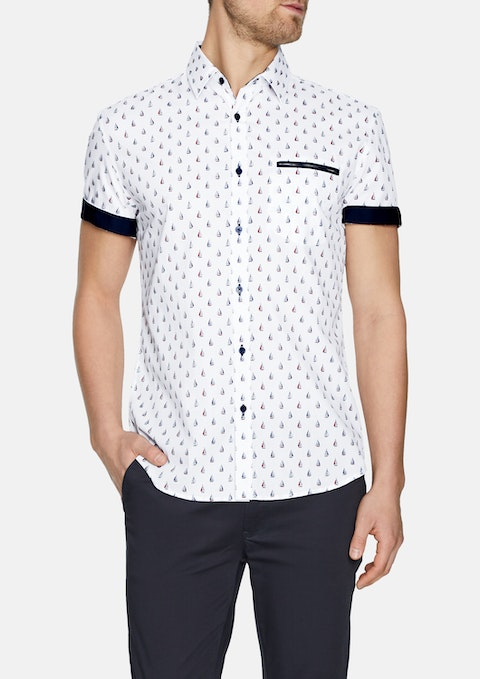 White Cruisin Print Shirt