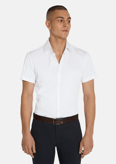 White Jason Muscle Fit Shirt