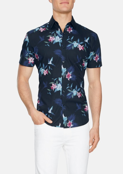 Navy Flight Print Shirt