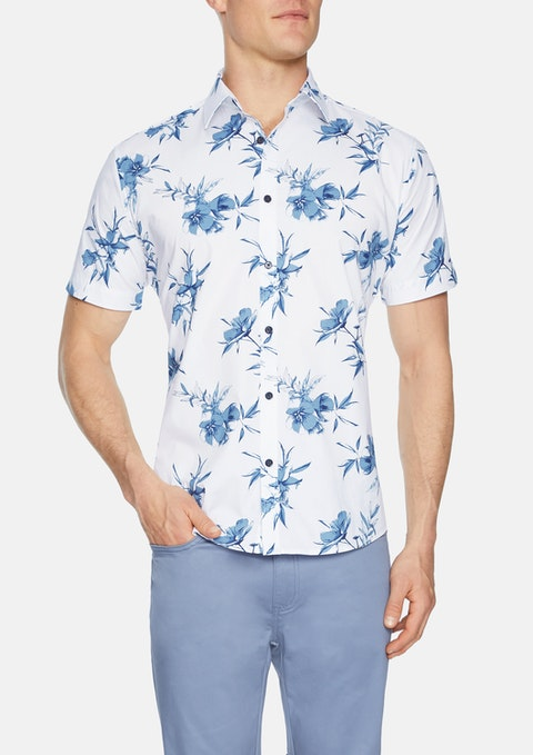 White Vice Floral Print Shirt