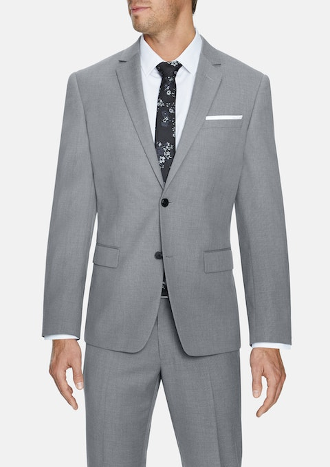 Silver Pierce Stretch 2 Button Suit