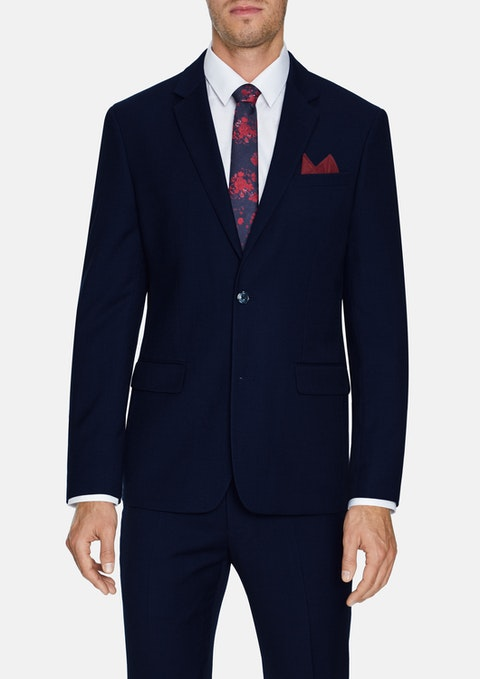 Navy Louis Stretch 2 Button Suit