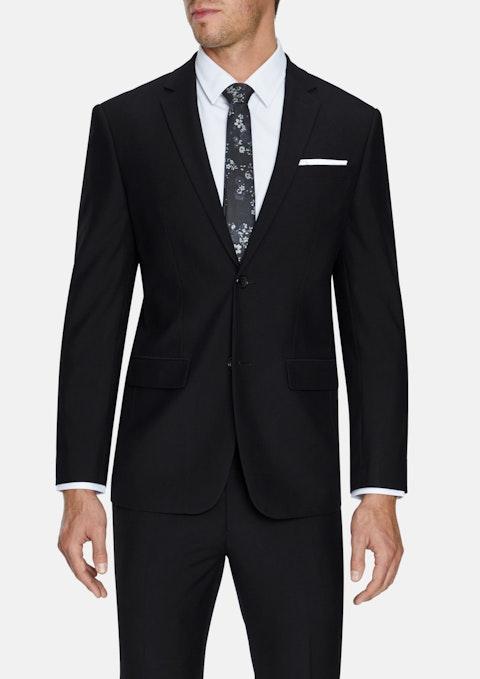 Black Liam Slim Stretch 2 Button Suit
