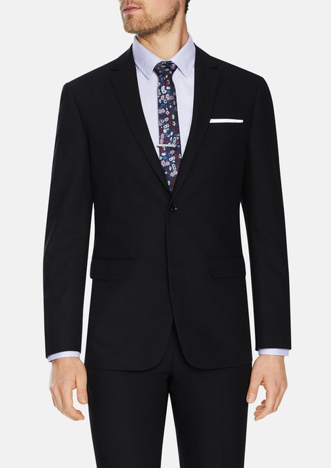 Black Don Textured 2 Button Suit