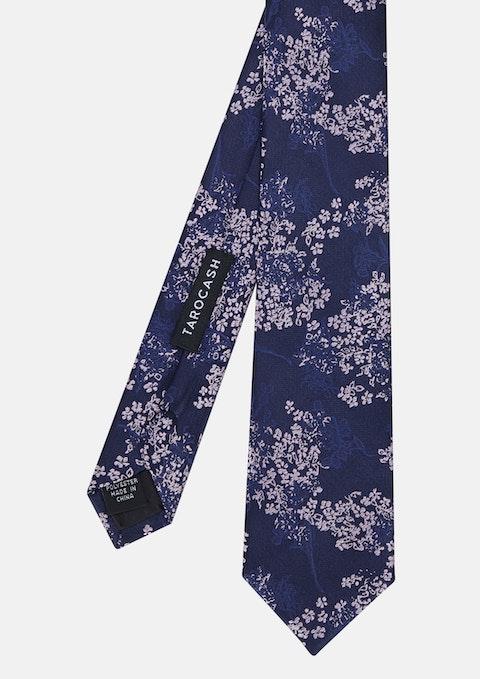 Navy Tilford Mini Floral Tie