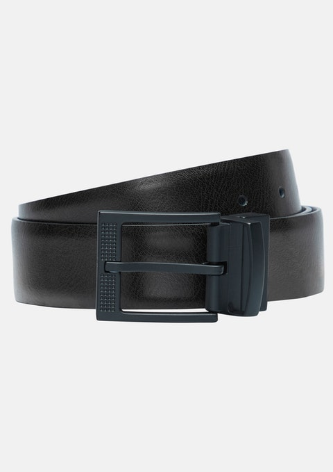 Black/choc Onyx Prong Belt