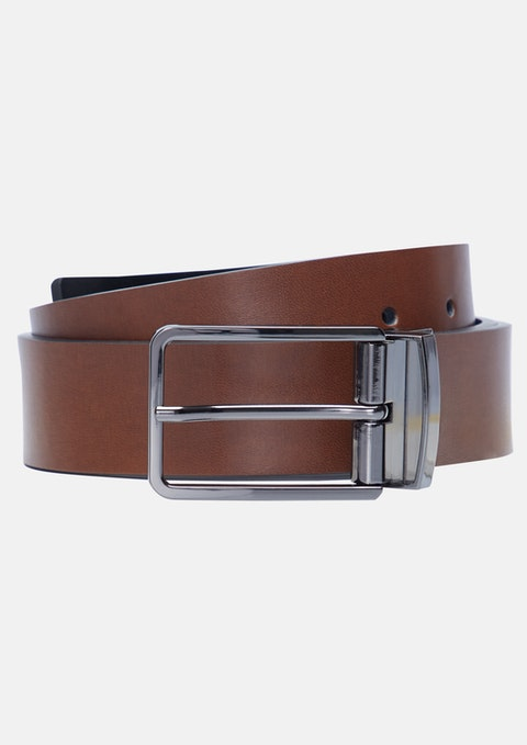 Tan/black Wylie Reversible Belt