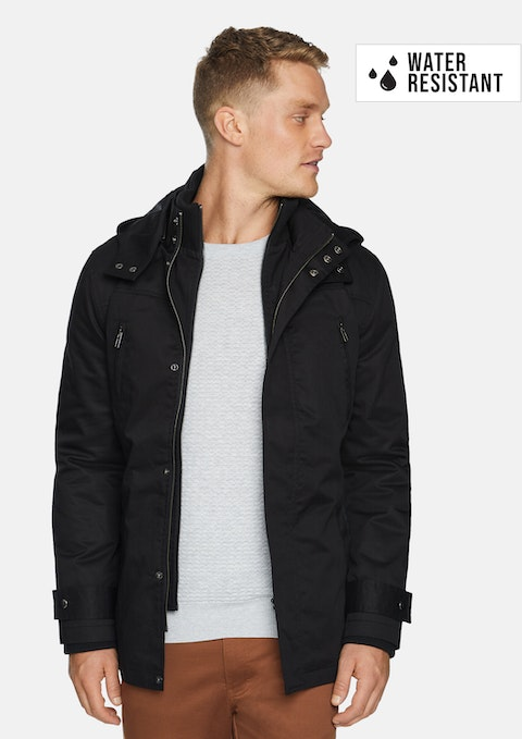 Black Don Water Resistant Hooded Jacket