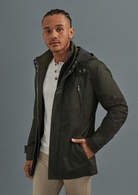 Khaki Don Water Resistant Hooded Jacket