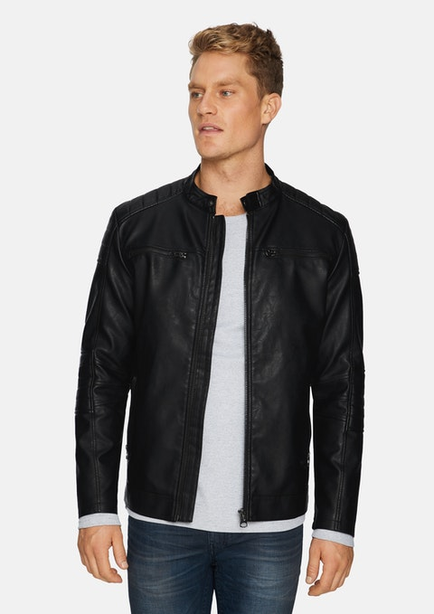 Black Bronx Biker Jacket