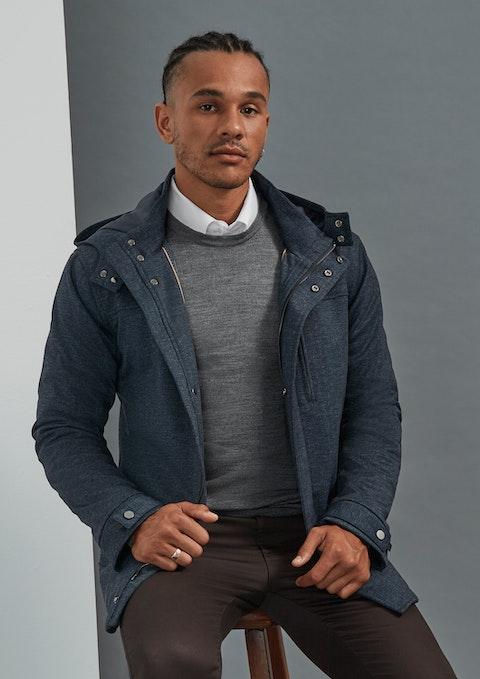 Navy Neo Hooded Jacket
