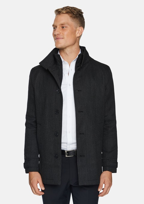 Charcoal Hoyt Textured Coat